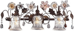 Elk Lighting Cristallo Fiore 3-Light Wall Sconce Deep Rust 70423