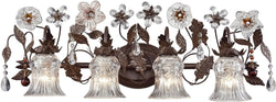 Elk Lighting Cristallo Fiore 4-Light Vanity Deep Rust 70484