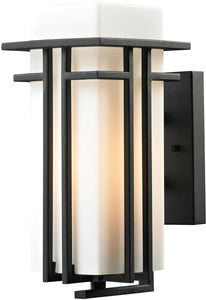 Elk Lighting Croftwell 1-Light Outdoor Wall Light Textured Matte Black 45085/1