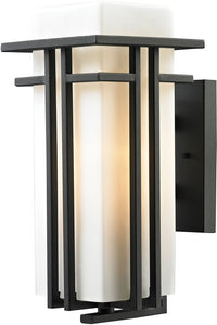 Elk Lighting Croftwell 1-Light Outdoor Wall Light Textured Matte Black 45086/1