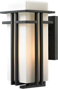 Elk Lighting Croftwell 1-Light Outdoor Wall Light Textured Matte Black 45087/1