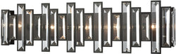 Elk Lighting Crystal Heights 5-Light Vanity Oil Rubbed Bronze/Clear Crystal 330025