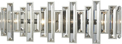 Crystal Heights 4-Light Vanity Polished Chrome/Clear Crystal