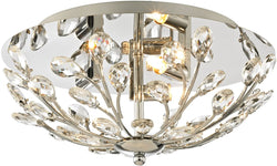 Elk Lighting Crystique 3-Light Flush Mount Polished Chrome 45260/3