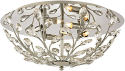 Elk Lighting Crystique 4-Light Flush Mount Polished Chrome 45261/4