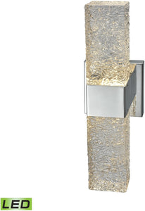 Elk Lighting Cubic Ice 2-Light Sconce Polished Chrome/Solid Textured Glass 85106LED