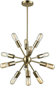 Elk Lighting Delphine 12-Light Chandelier Satin Brass 4624312