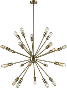 Delphine 24-Light Chandelier Satin Brass