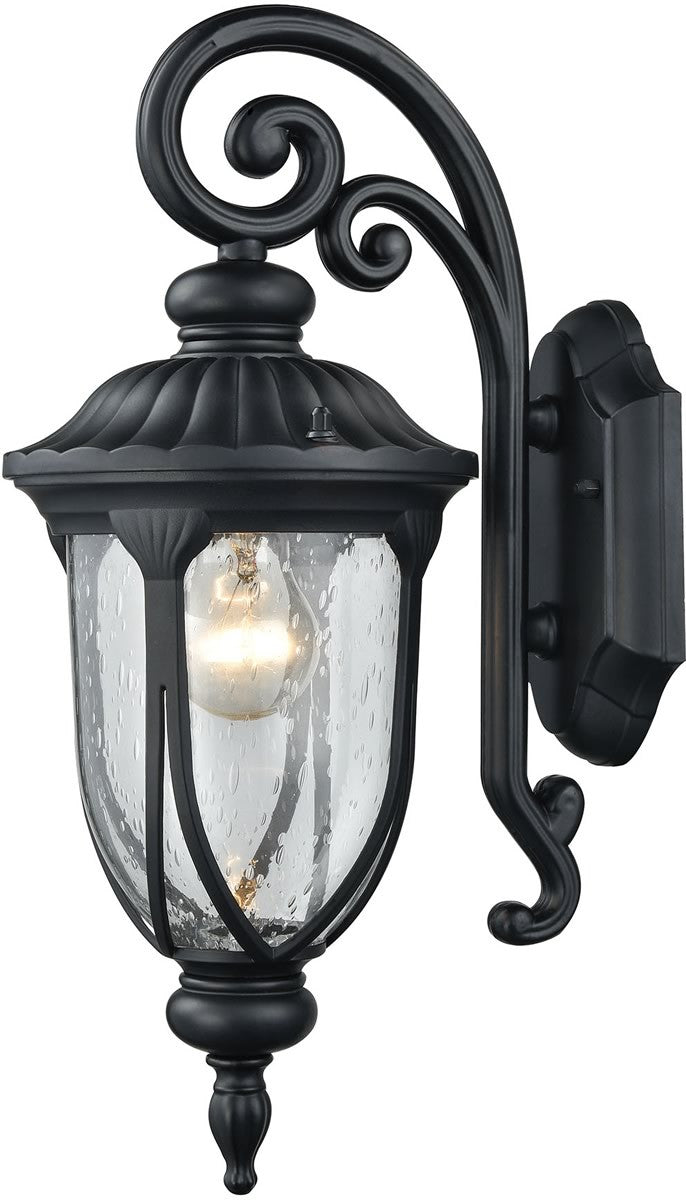 "17""H Derry Hill 1-Light Outdoor Wall Light Matte Black"