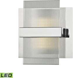 Desiree Led Vanity Polished Chrome/Clear Lined Glass