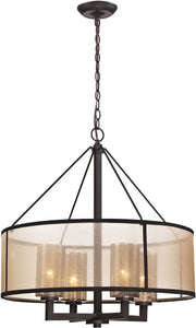 Elk Lighting Diffusion 4-Light Chandelier Oil Rubbed Bronze 57027/4