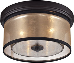 Elk Lighting Diffusion 2-Light Flush Mount Oil Rubbed Bronze 57025/2