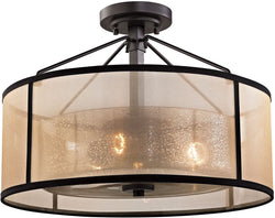Elk Lighting Diffusion 3-Light Semi Flush Mount Oil Rubbed Bronze 57024/3