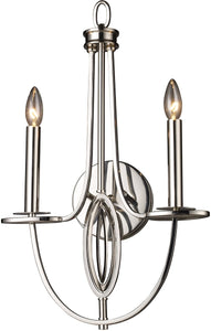 Elk Lighting Dione 2-Light Sconce Polished Nickel 101132