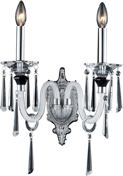 Elk Lighting Duchess 2-Light Wall Sconce Polished Chrome with Transparent Glass 310902
