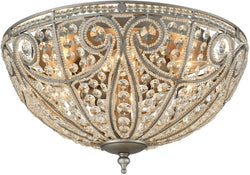 Elk Lighting Elizabethan 6-Light Flush Mount Weathered Zinc 15994/6