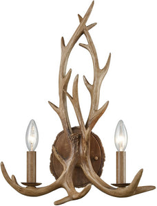 Elk Lighting Elk 2-Light Wall Sconce Wood Brown 163132