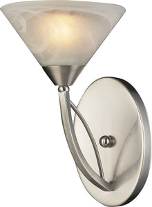 Elk Lighting Elysburg 1-Light Bathroom Vanity Satin Nickel/Marbelized White 76301