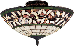 Elk Lighting English Ivy 3-Light Semi Flush Tiffany Bronze 933TB