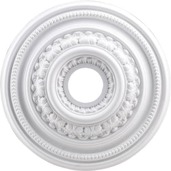 "18""w English Study Ceiling Medallion White"