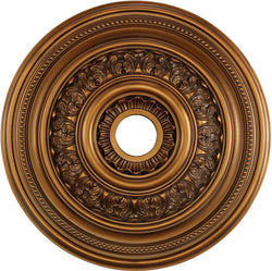 "24""w English Study Ceiling Medallion Antique Bronze"