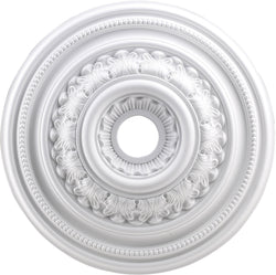 "24""w English Study Ceiling Medallion White"