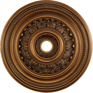 "32""W English Study Ceiling Medallion Antique Bronze"