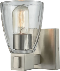 Elk Lighting Ensley 1-Light Vanity Satin Nickel/Clear Glass 119801