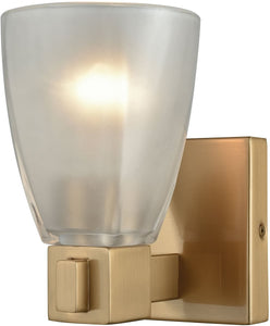 Ensley 1-Light Vanity Satin Brass/Frosted Glass