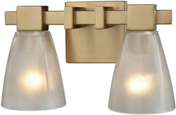 Elk Lighting Ensley 2-Light Vanity Satin Brass/Frosted Glass 119912