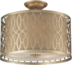 Elk Lighting Estonia 3-Light Semi Flush Mount Aged Silver 31122/3