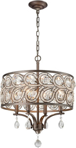 Elk Lighting Evolve 4-Light Chandelier Weathered Zinc 11934/4