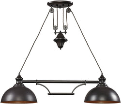 Farmhouse 2-Light Billiard/Island Oiled Bronze