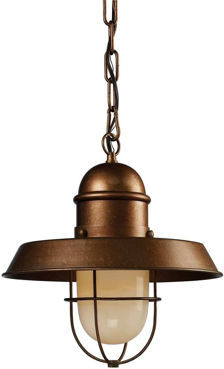 "12""w Farmhouse 1-Light Pendant Bellwether Copper"