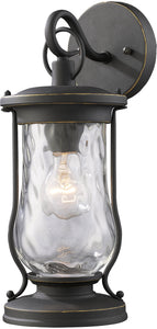 Elk Lighting Farmstead 1-Light Outdoor Wall Sconce Matte Black with Transparent Glass 430161