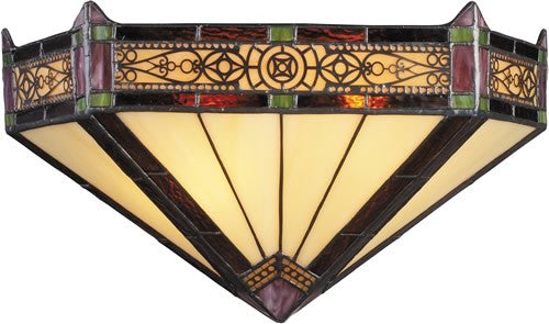 "14""w Filigree Tiffany 2-Light Wall Sconce Aged Bronze"