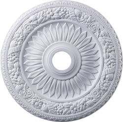 Elk Lighting Floral Wreath Ceiling Medallion White M1006WH