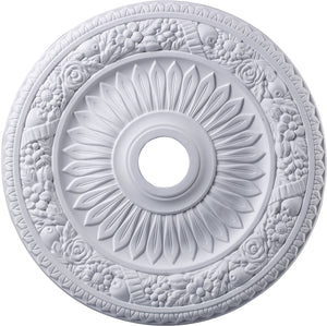 "24""W Floral Wreath Ceiling Medallion White"