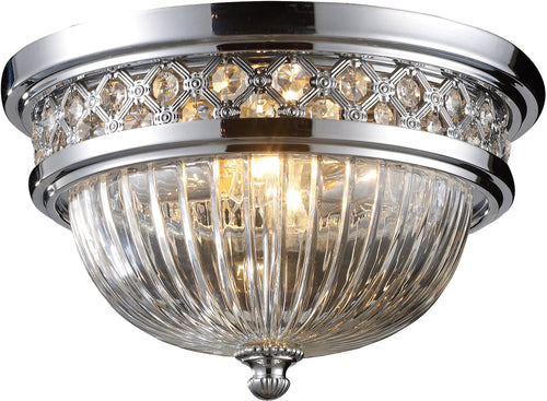 Elk Lighting 2-Light Flush Mount Polished Chrome with Transparent Glass 112252