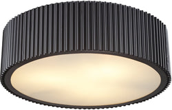 Elk Lighting 17 inchw 3-Light Flush Mount Oil Rubbed Bronze 664193