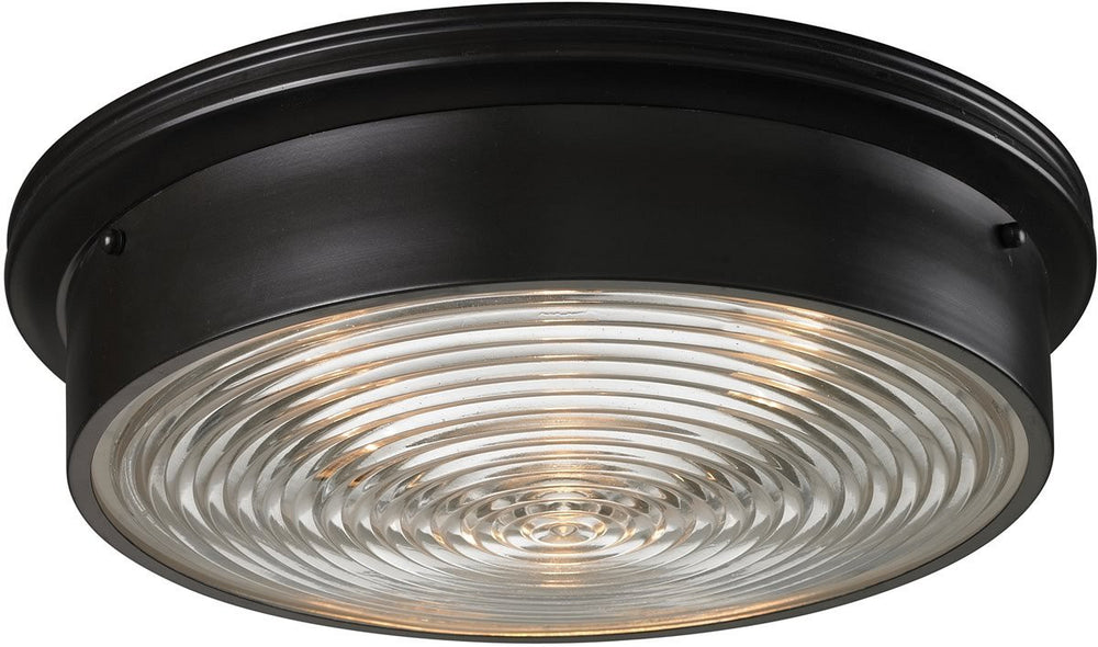 "15""W Flushmounts 3-Light Flushmount Oiled Bronze"