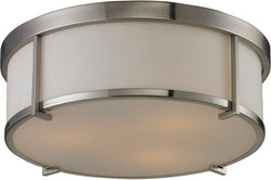 Flushmounts 3-Light Flushmount Brushed Nickel