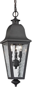 Elk Lighting Forged Brookridge 3-Light Outdoor Pendant Light Charcoal 47104/3