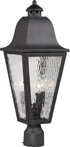 Elk Lighting Forged Brookridge 3-Light Outdoor Post Light Charcoal 47105/3