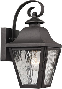 Elk Lighting Forged Brookridge 1-Light Outdoor Wall Light Charcoal 47100/1