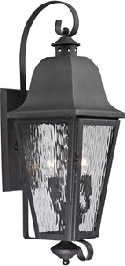 Elk Lighting Forged Brookridge 3-Light Outdoor Wall Light Charcoal 47102/3