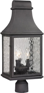 Elk Lighting Forged Jefferson 3-Light Outdoor Post Light Charcoal 47075/3