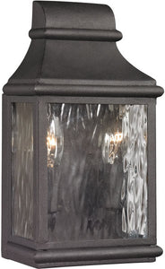 Elk Lighting Forged Jefferson 2-Light Outdoor Wall Light Charcoal 47070/2