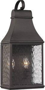Elk Lighting Forged Jefferson 2-Light Outdoor Wall Light Charcoal 47071/2