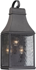 Elk Lighting Forged Jefferson 3-Light Outdoor Wall Light Charcoal 47072/3